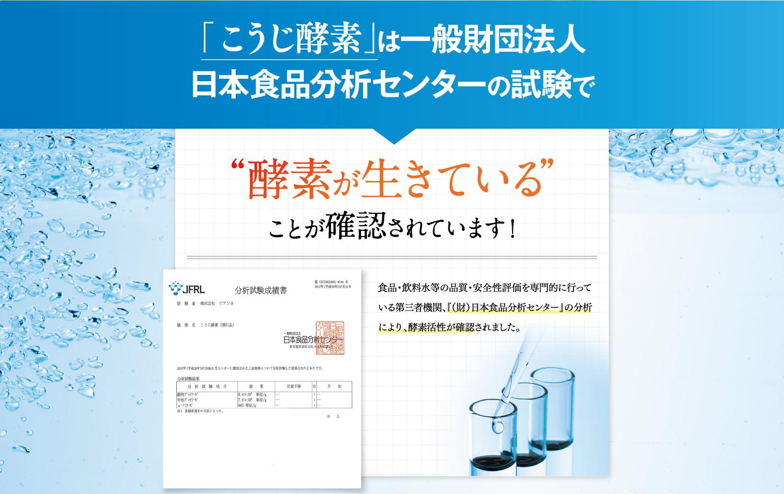 Image result for こうじ酵素 分析試験
